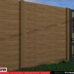 Gard lemn - Model K13 - Gard prefabricat din beton Konkret Line
