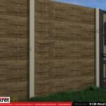Gard lemn - Model K13B - Gard prefabricat din beton Konkret Line