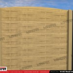 Gard lemn - Model K13C - Gard prefabricat din beton Konkret Line