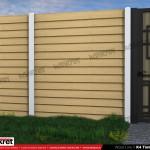 Gard lemn - Model K4 - Gard prefabricat din beton Konkret Line