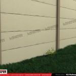 Gard lemn - Model K5 - Gard prefabricat din beton Konkret Line