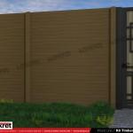 Gard lemn - Model K6 - Gard prefabricat din beton Konkret Line