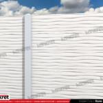 Gard modern - Model K011 - Gard prefabricat din beton Konkret Line