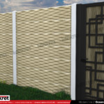 Gard modern - Model K012 - Gard prefabricat din beton Konkret Line