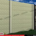Gard modern - Model K014 - Gard prefabricat din beton Konkret Line