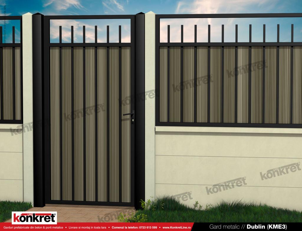 Gard fier - panou gard metalic model KME3