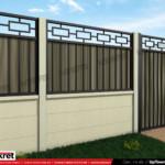 Gard fier - panou gard metalic model KME4