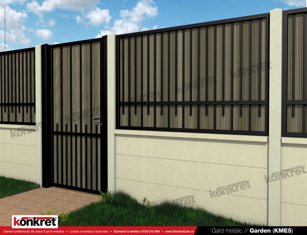 Gard fier - panou gard metalic model KME5