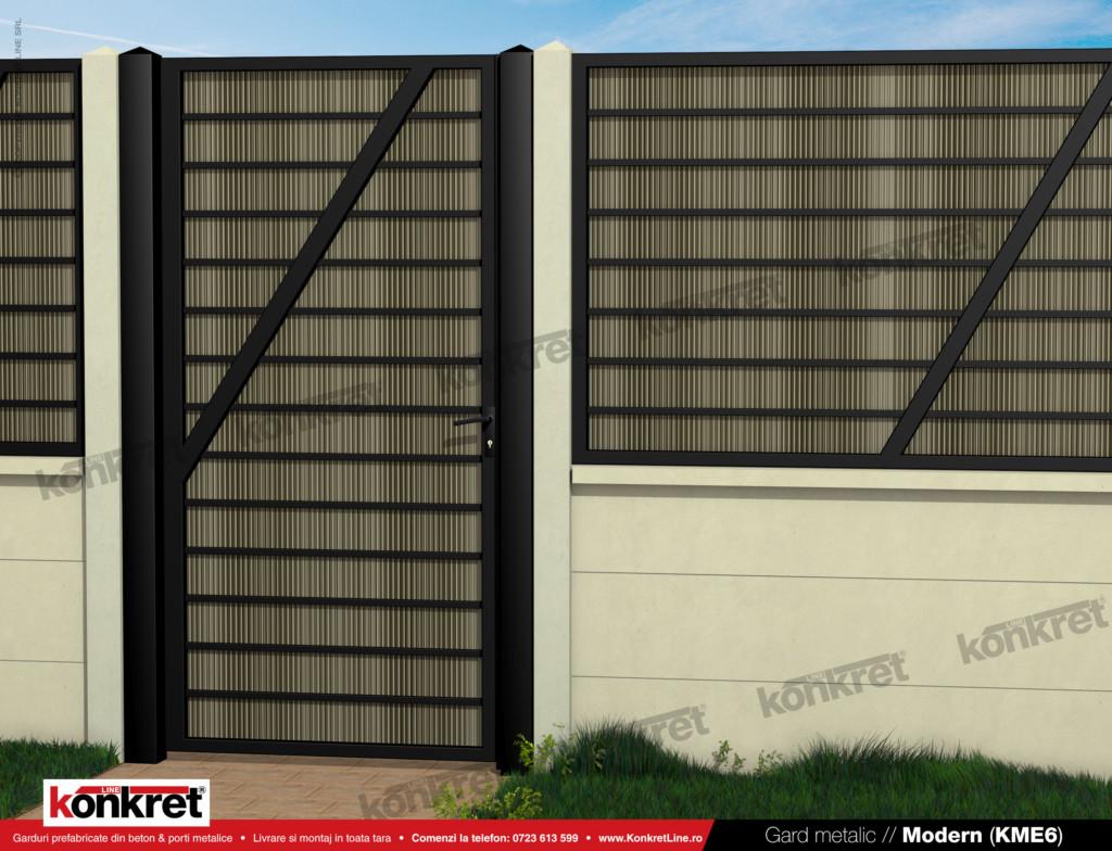 Gard fier - panou gard metalic model KME6
