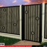 Gard fier - panou gard metalic model KME8