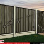 Gard fier - panou gard metalic model KME9