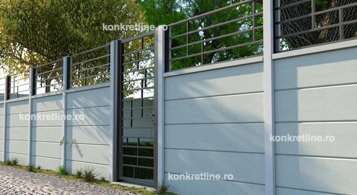 gard beton + gard metalic