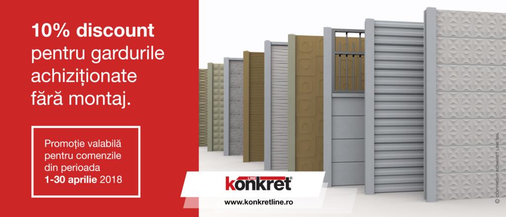 Promotie garduri prefabricate din beton